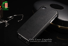 Factory Price Litchi Leather Back Cover for iPhone 5s Hard Back Cover Case for iPhone 5s