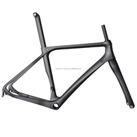 2016 ICANBikes thru axle fork disc brake carbon t700 ud 3k carbon road bike frame set with fork with seat post with headsets
