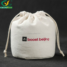 Hot Selling Free Sample offer 12 oz Canvas round bottom drawstring bag