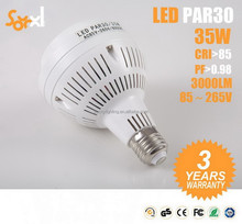 220-240V cob led aluminum+ABS par30 led 35w cob led ar111