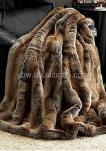 Fashionable Design Faux Fur Throw Blanket for Home Decoration