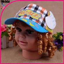 Factory price baby baseball cap, children's summer with wings mesh hat
