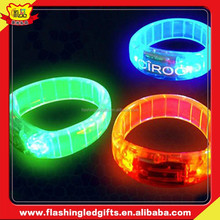 China Manufacture Concert Flasing Led Slap Bracelet custom events decorations led bracelet glow in the dark flashing bracelet