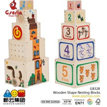 Wooden Shape Nesting Blocks 2015 new toys