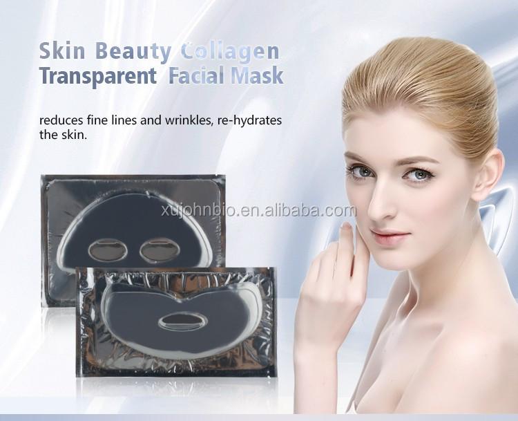 De La Peau Ramollissement Hydratant Et Anti-Rides Transparent Up Et Down Séparée Collagène Cristal Masque Facial