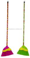 hot plastic wood long handle two tone angle broom