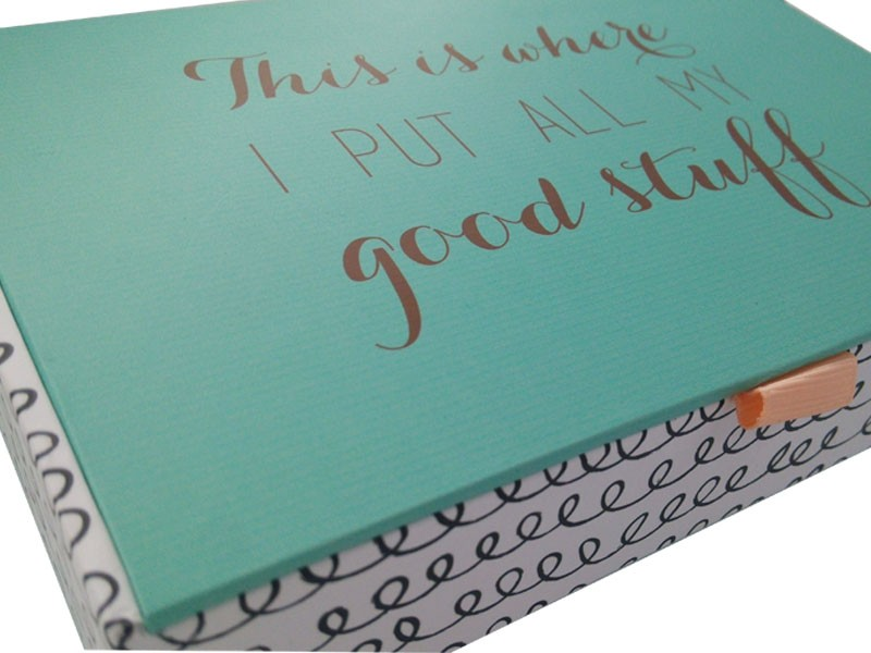 grey cardboard packaging box