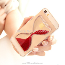 TPU case Crystal Clear Quicksand Sand Clock Transparent Flowing Hour glass Pattern Back Cover Phone Case For iphone 6 4.7