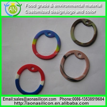 Customise logo eco-friendly soft silicone dog tag|dog tag rubber silencer