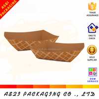 hot sale 1 color printed common shape kraft paper hot dog box
