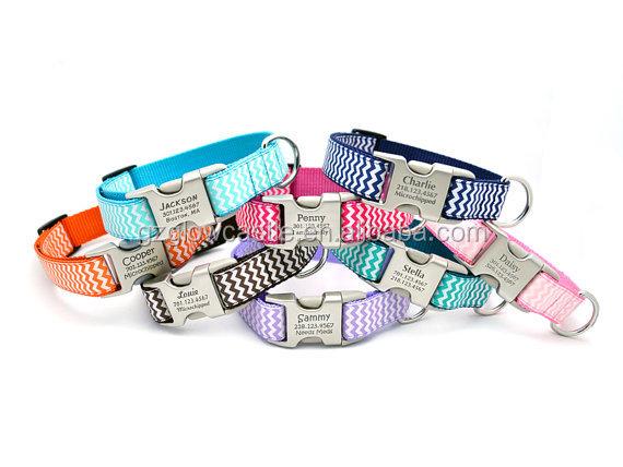 Chevron Stripe Personalized Dog Collar (5).jpg