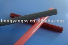 different red/ruby quartz glass tube for heating, baking etc.