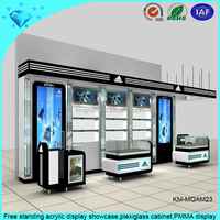 Free standing acrylic display showcase,plexiglass cabinet,PMMA display
