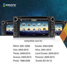Iokone Touchscreen Double Din Car DVD GPS For Toyota Corolla EX VIOS RAV4