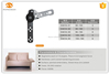DLS 2015 newl shape hinge ,remote control hinge and sofa headrest hinge