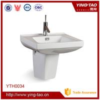 ceramic glazed wall hung italian wash basin