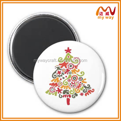 Cute Christmas tree and cartoon animal custom Fridge Magnet for Cheap Creative Gifts