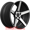 15' 16' 17' 18' high quality alloy wheel black machine face aluminum wheels