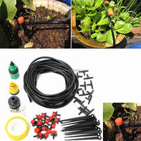 Top Quality DIY Micro Drip Irrigation System Automatic Plant Garden Watering Kit Gardening Drip Irrigation 10M Hose 15 Drippers