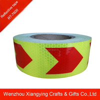 Arrow road safety signs, safety product, lime green reflective tape for vehicle safety
