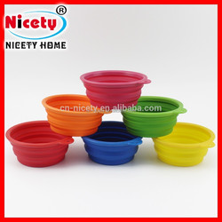 outdoor silicone portable dog collapsible bowl
