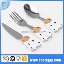 Mignon en acier inoxydable couteau et une fourchette pour enfants