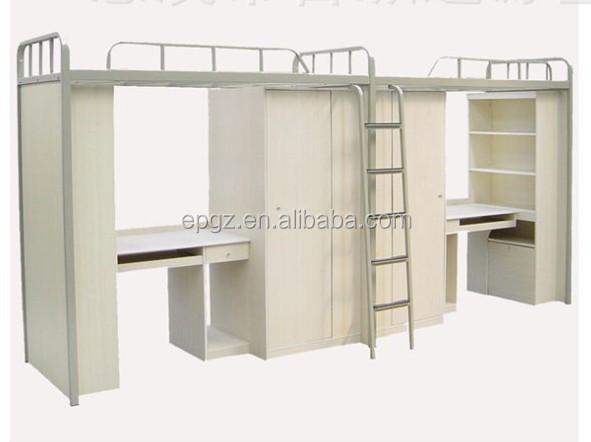 guangzhou sola cama litera con escritorio debajooff blanco muebles de dormitorio de la escuela