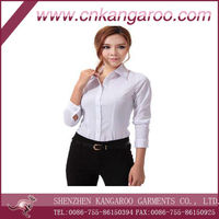 2014 latest office long sleeve wear shirts for women