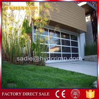 YQGD0016 Aluminum glass panel garage door, louver door
