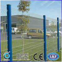 European Hot-galvanized Welded Metal Wire Mesh Fence