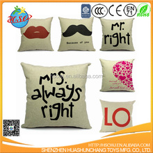 custom home textile pillow square pillow,printing pillow
