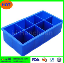 Export Canada Brand new 8 cavity ice cubes bpa-free jumbo trays with high quality