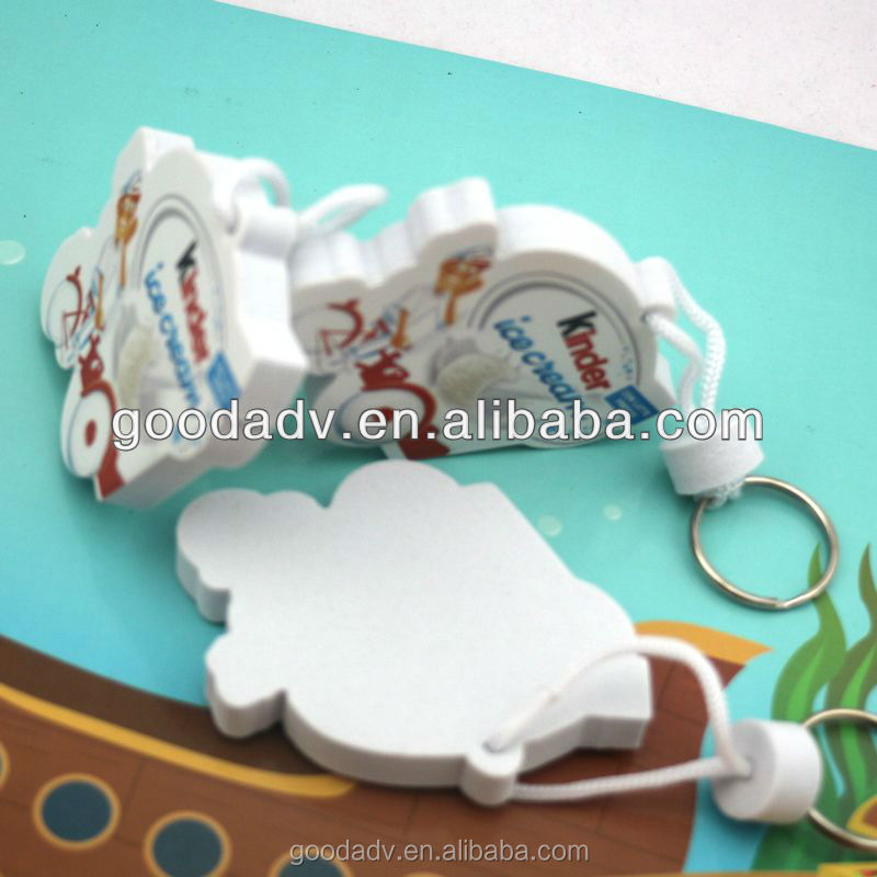 Promotional 5mm thickness eva no minimum custom logo keychains