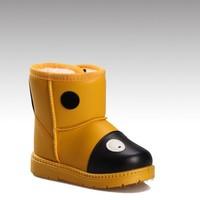 HC-521 PU upper sheepskin lining rubber sole waterproof warm cute toddler boy boots