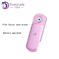Battery operated facial mini handy ion mist sprayer