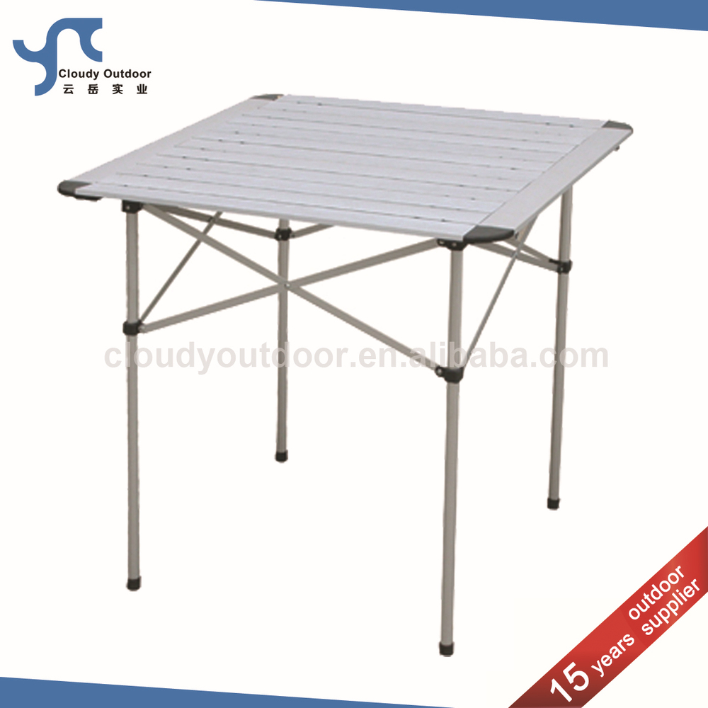 YTFT005, Item No. YTFT005. Item Name, Roll Up Top Camping Aluminum  Small Metal Folding Table