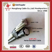 PE /XLPE insulated overhead distribution 2*25 mm ABC cable