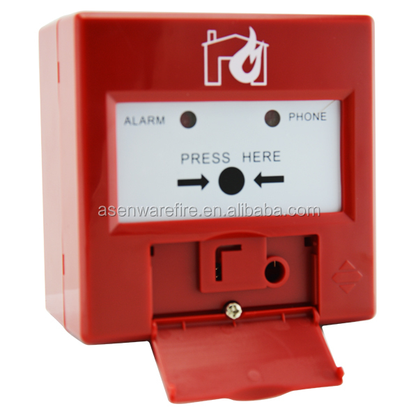Addressable Fire Break Glass Manual Call Point With Cover