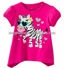 100% Cotton short sleeve printed colourful t-shirts for child