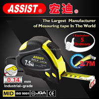 Ningbo/zhejiang NYLON WRAP 5m round stainless steel oil tape measure with rubber coated