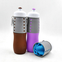 Portable Empty 750ml Collapsible Silicone Water Travel Bottles