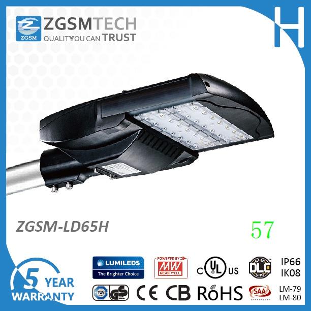 Производитель и завод 65 W LED уличного светильника