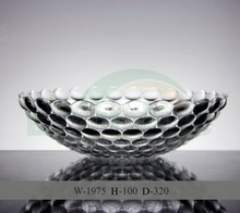 hemispherical glass fruit plates for wedding with embossed