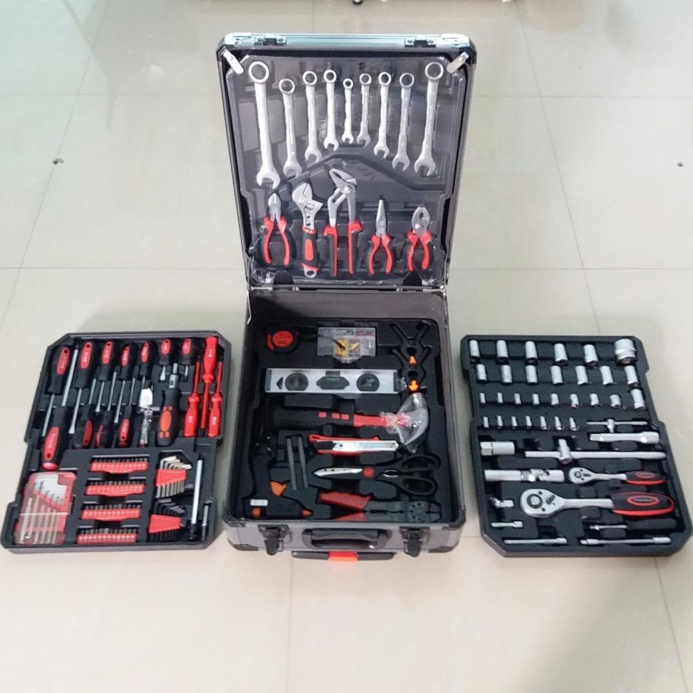 Профессиональный Прочный 186 шт алюминиевый корпус ручной набор инструментов