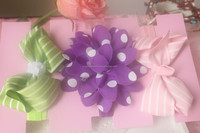 Yellow,pink and purple color kids hair accessories wholesale