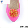 The red plastic buckle shoe buckle upper shoe stone for lady shoe ornament