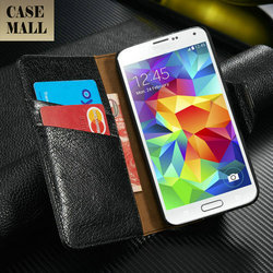 Top Layer Genuine Leather wallet case for Samsung S5