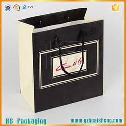 Hot sale glossy art paper bag with logo print