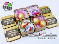 Extra Stimulating Sex Toys Creative Steel Box Pakage Condom /Original Long Lasting Condom For Adult More Orgasm