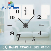 Promotional Fancy Large DIY Decorated Wall Clock